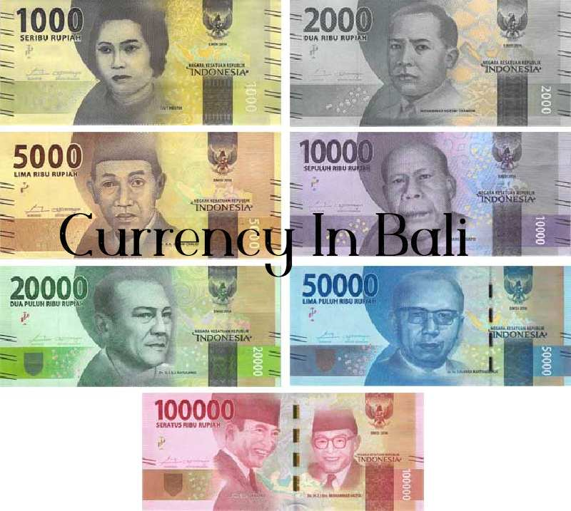 Currency In Bali indonesia